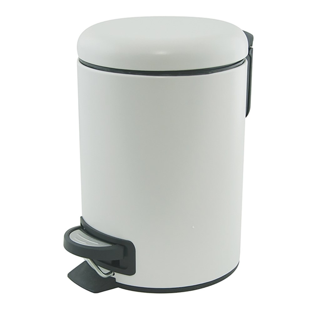 Salt & Pepper Suds Pedal Bin 3L White
