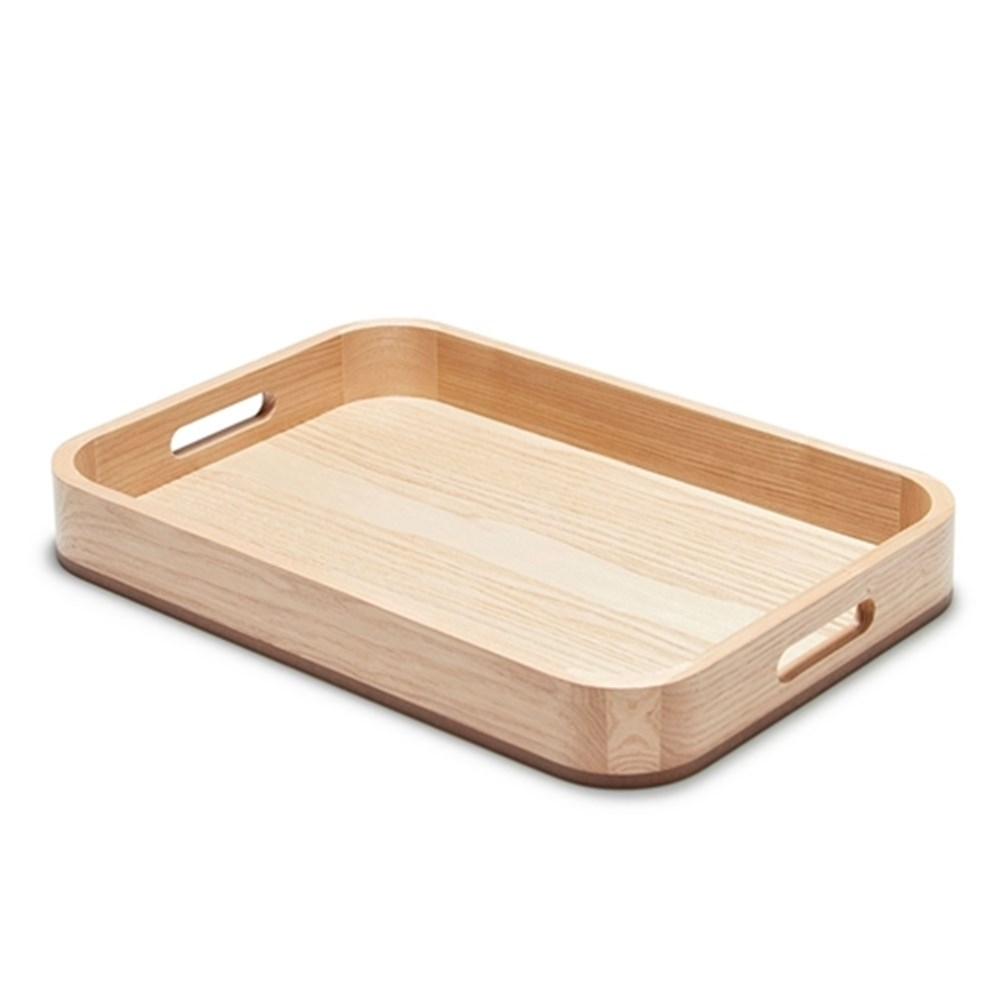 Salt & Pepper Butler Serving Tray Lightwood 46X32X6cm