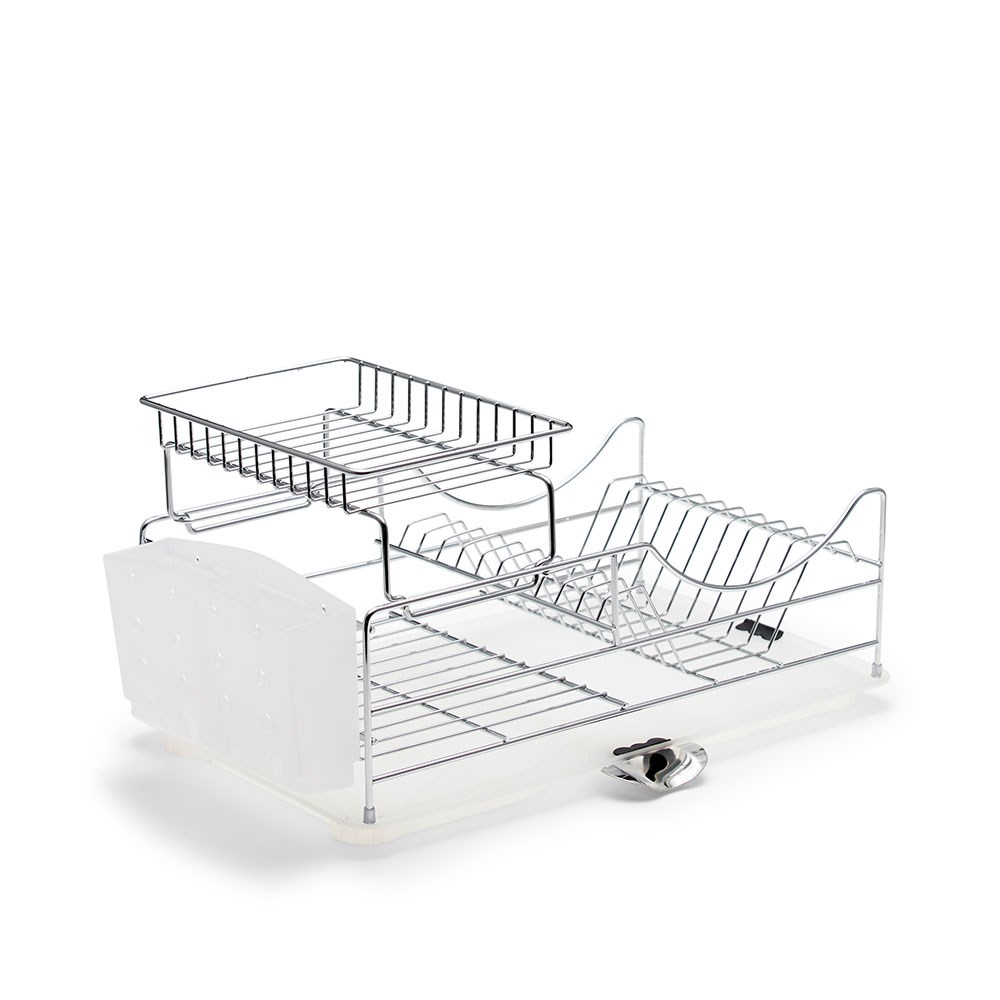 Salt & Pepper Sublime Iron Stackable Dish Rack 52 x 30 x 26cm Chrome