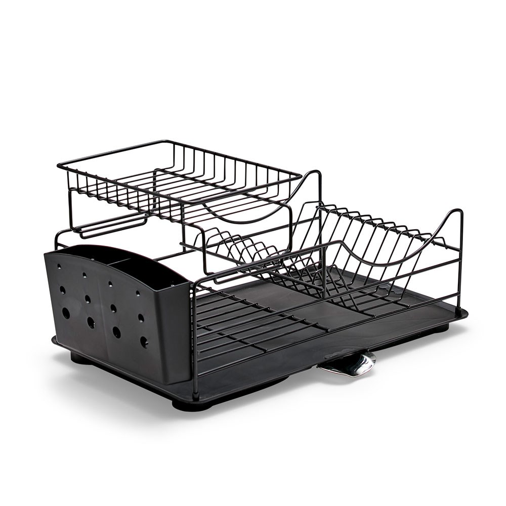 Salt & Pepper Sublime Iron Stackable Dish Rack 52 x 30 x 26cm Black
