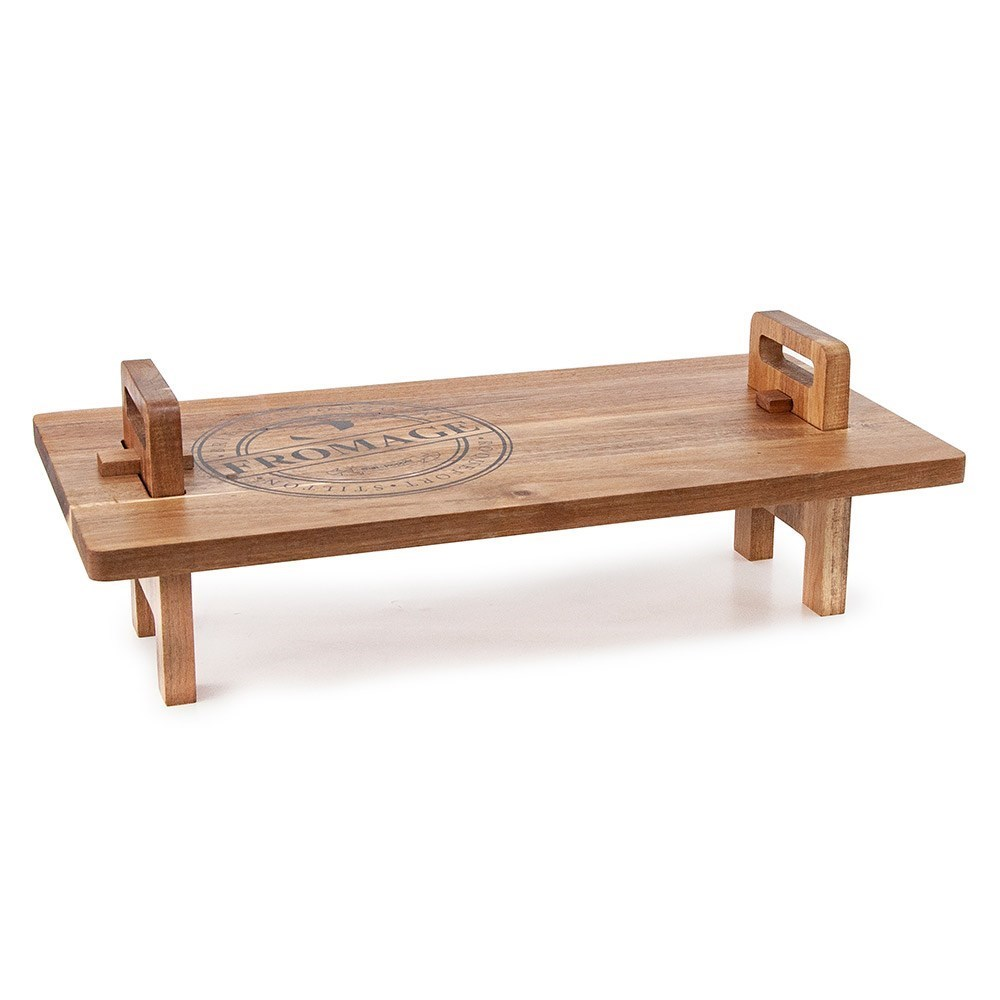 Salt & Pepper Fromage Acacia Wood Serving Stand 55cm Natural Brown