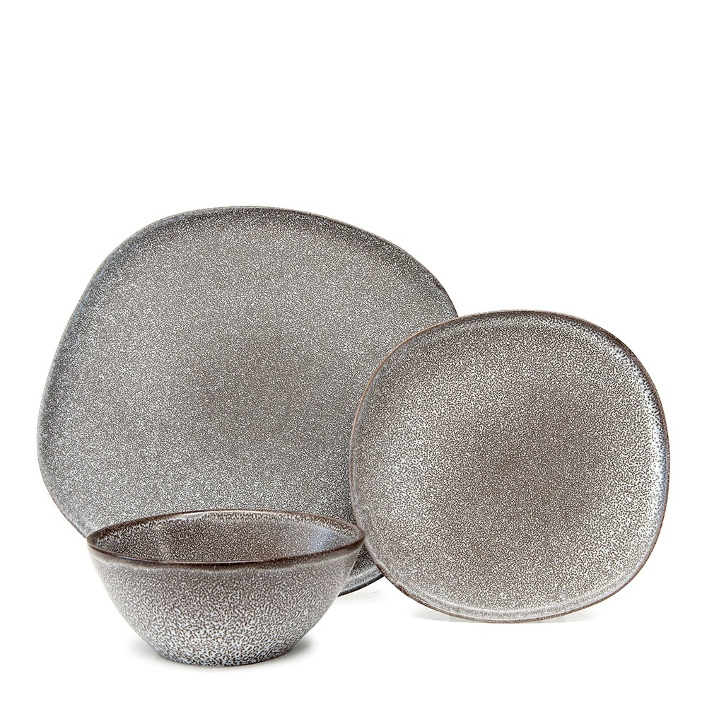 Salt & Pepper Arch 12 Piece Dinner Set Charcoal