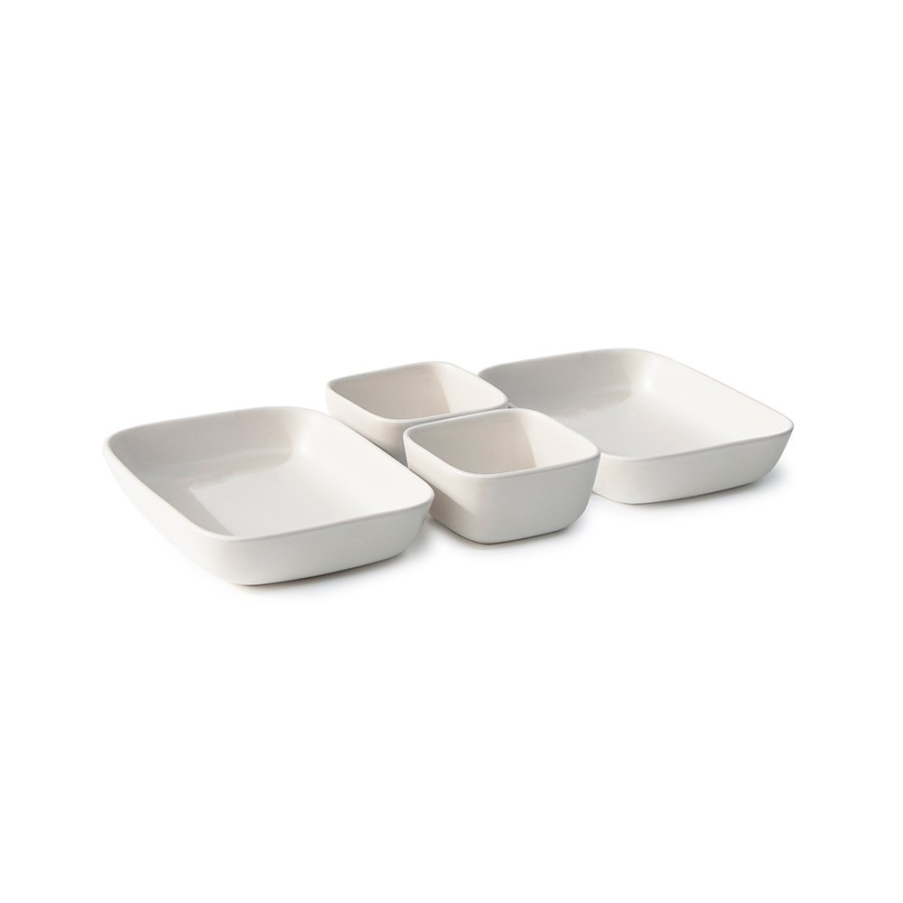 Salt & Pepper Major 4 Piece Stoneware Serving Set Natural