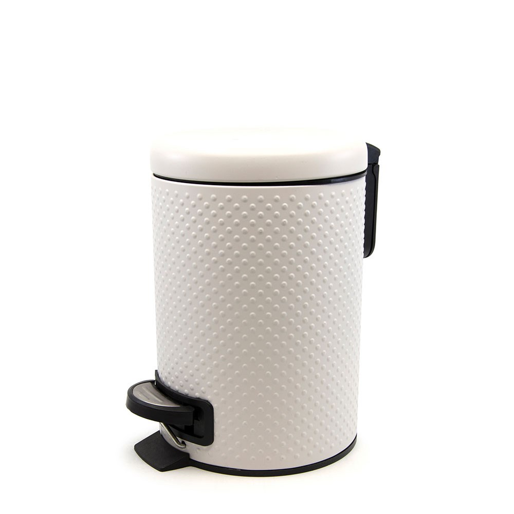 Salt & Pepper Suds Metal Peddle Bin 27 x 23cm White