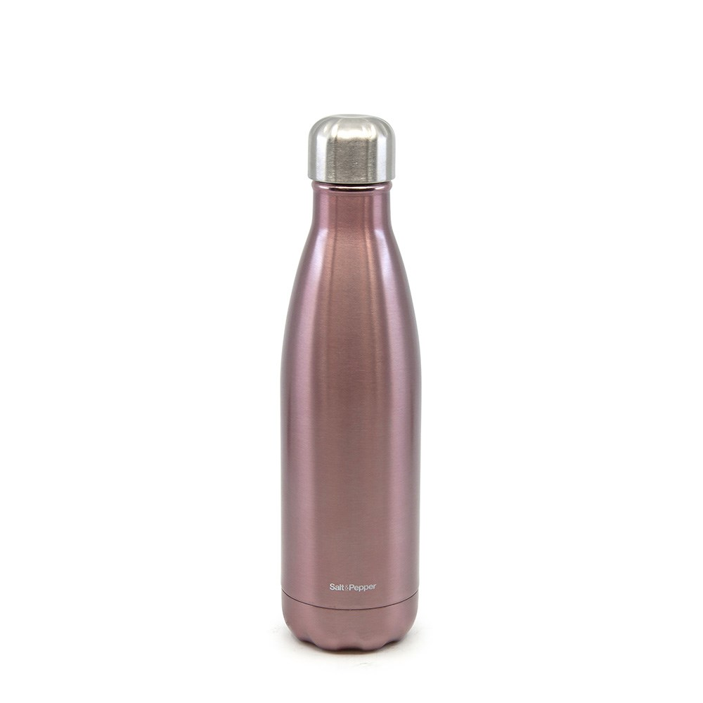Salt & Pepper Hydra Stainless Steel Insulated Water Bottle 500ml Pale Pink