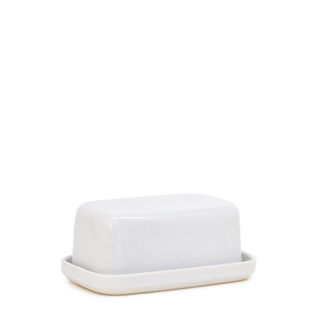 Salt & Pepper Beacon Butter Dish White