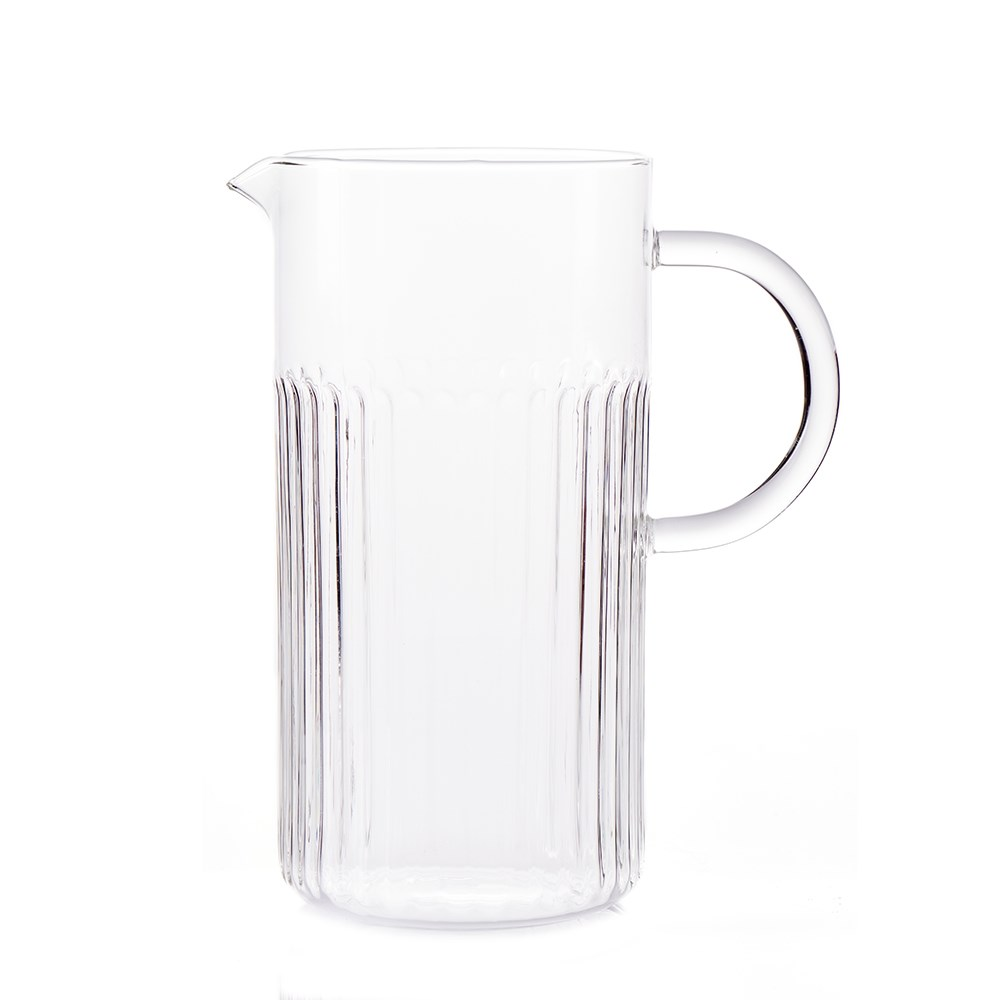 Salt & Pepper Brew Glass Crinkle Ice Tea Jug 1.2L