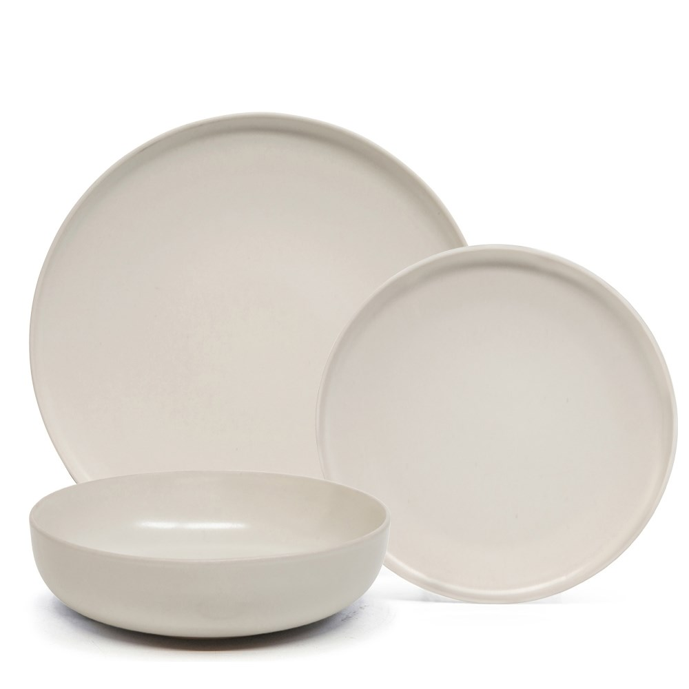 Salt & Pepper Hue 12 Piece Dinner Set Stone