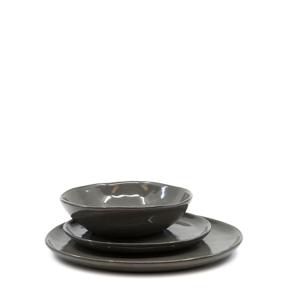 Salt & Pepper Series 12 Piece Dinner Set Stone