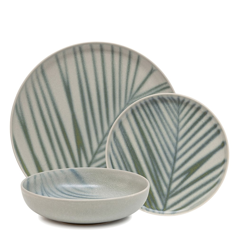 Salt & Pepper Kentia 12 Piece Dinner Set