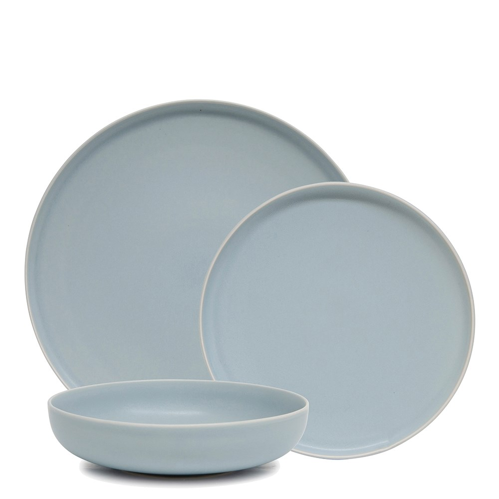 Salt & Pepper Hue 12 Piece Dinner Set Sky