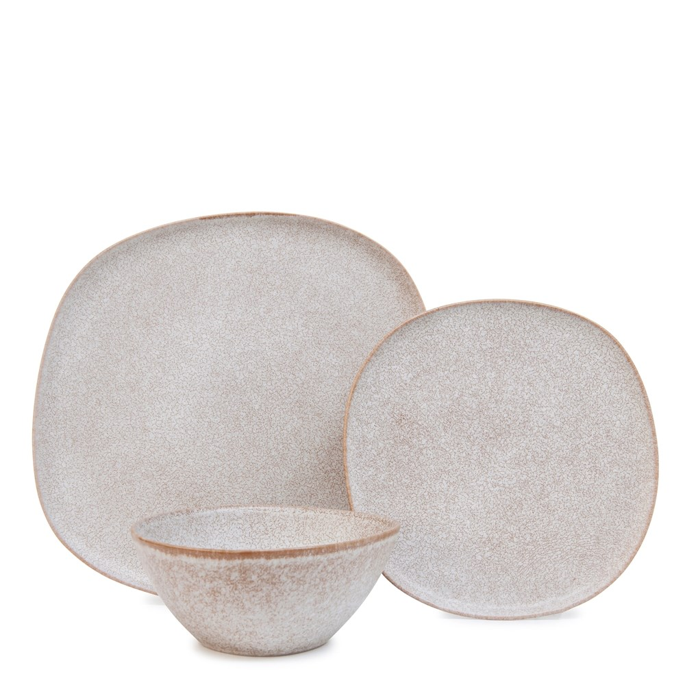 Salt & Pepper Arch 12 Piece Dinner Set Cream
