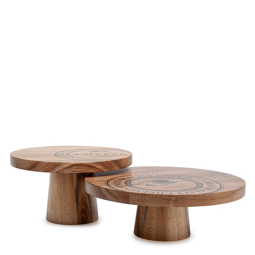 Salt & Pepper Fromage Set of 2 Serving Stands