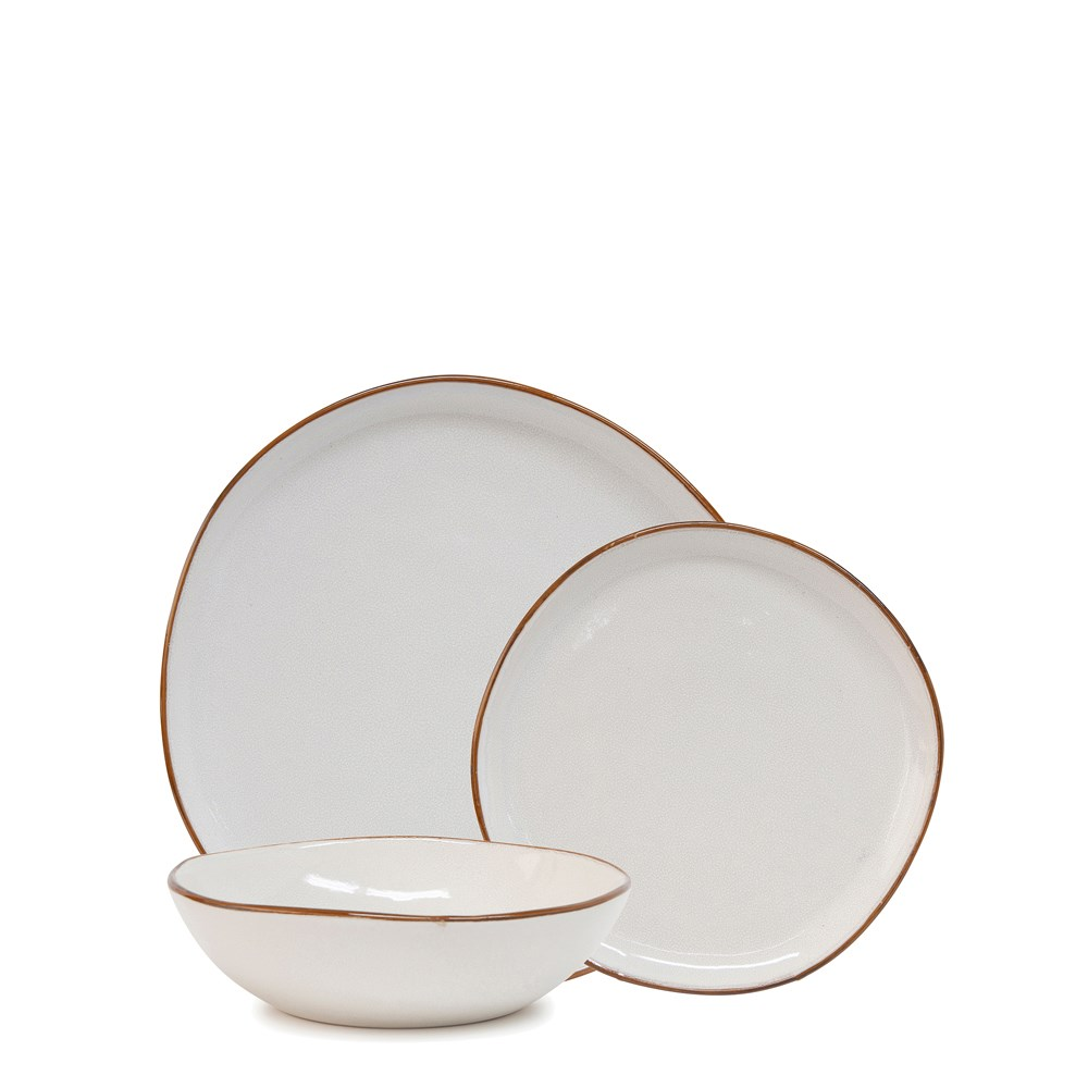 Salt & Pepper Series 12 Piece Dinner Set White