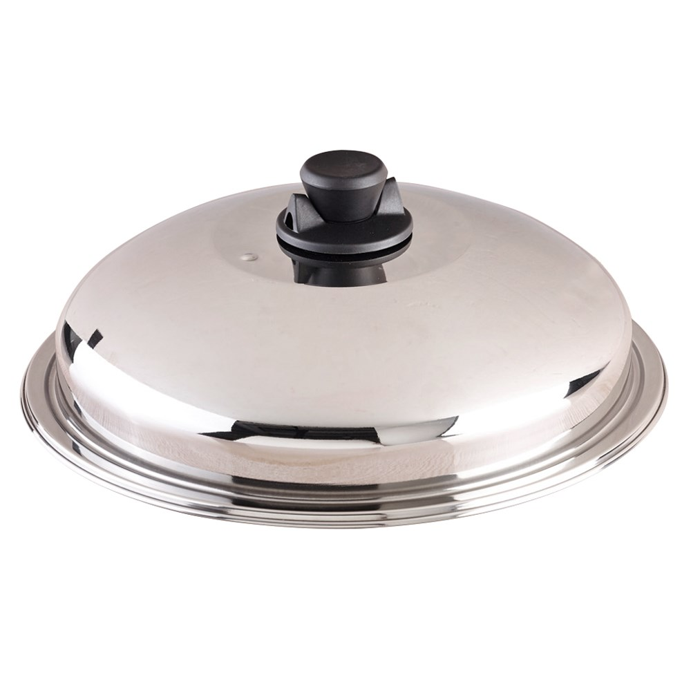 Bessemer Stainless Steel Chinese Wok Lid 32cm