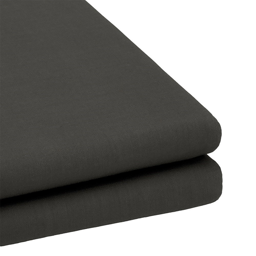 Bambury TRUFit Cotton Fitted Sheet Charcoal Black Queen Bed