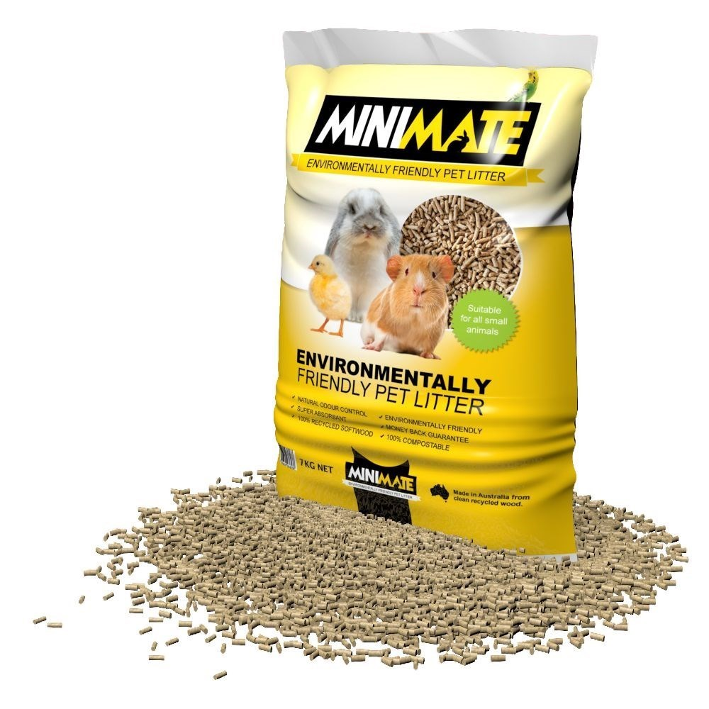 Minimate Wood Pellet Small Animal Litter 7kg
