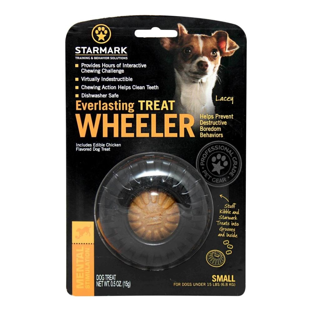Starmark Everlasting Treat Wheeler Dog Toy Small