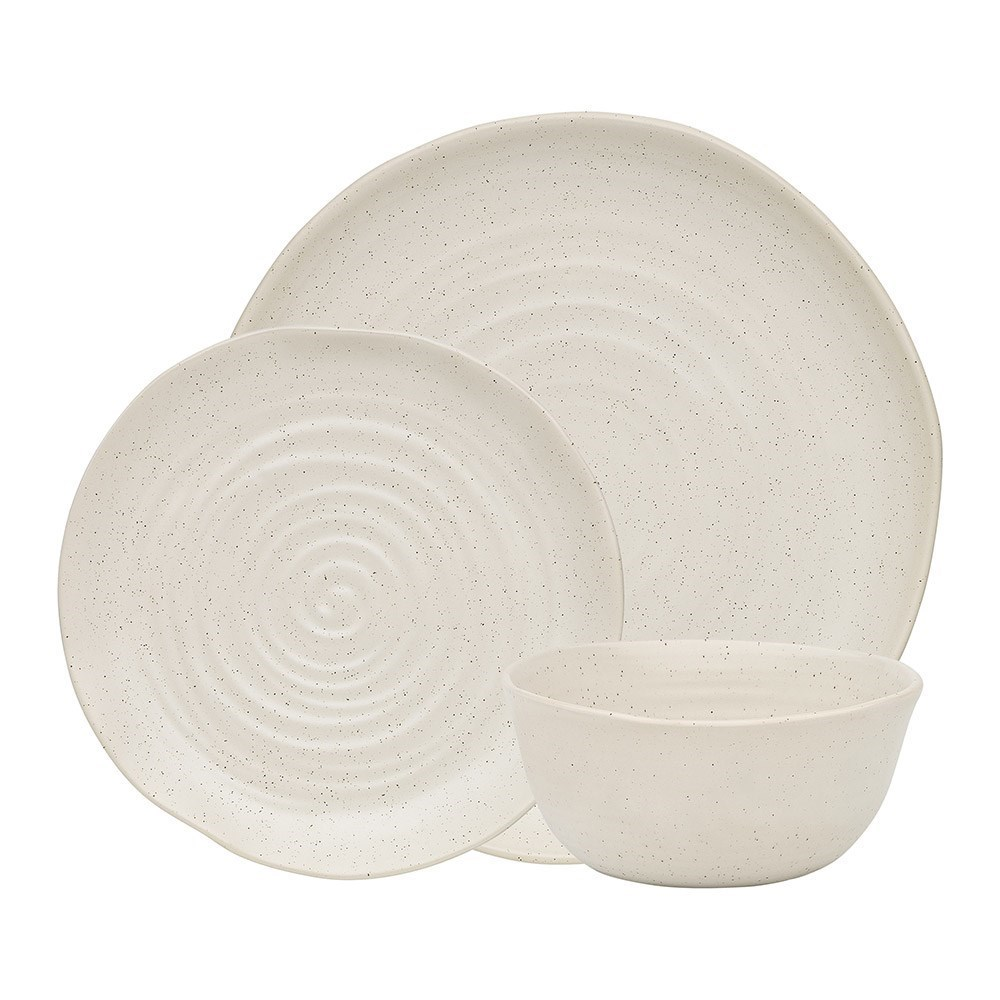 Ecology Ottawa 12 Piece Stoneware Dinner Set Calico