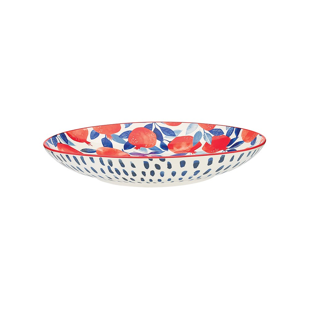 Ecology Punch Large Shallow Bowl 31 x 5.5cm Pomegranate