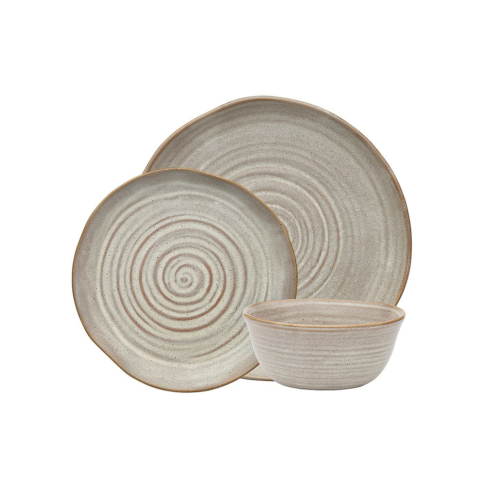Ecology Ottawa Barley Stoneware Dinner Set 12 Piece Natural