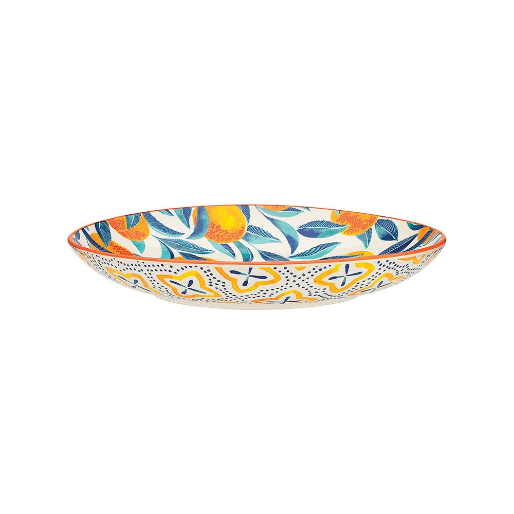 Ecology Punch Large Shallow Bowl 31 x 5.5cm Orange