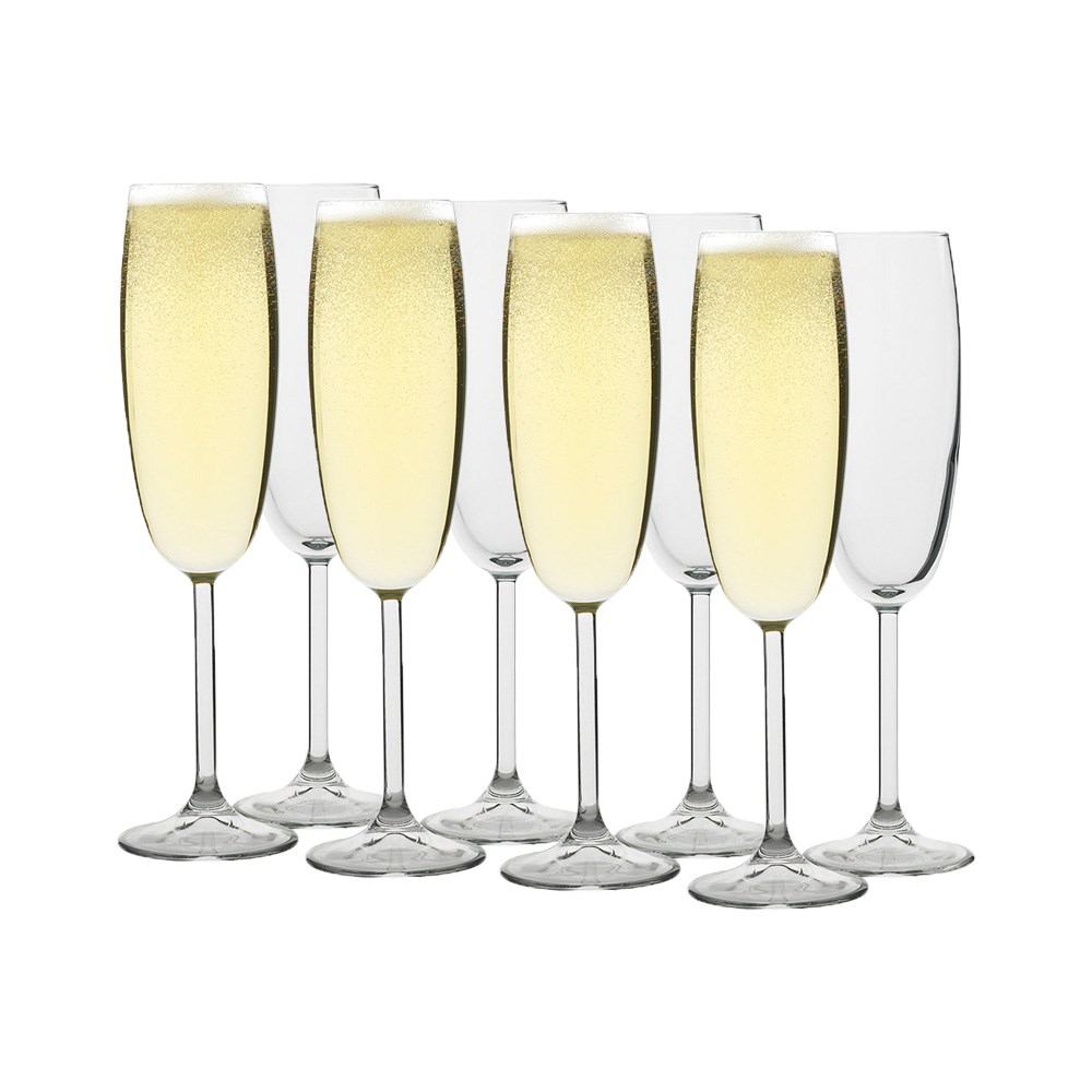 Ecology Otto Crystal Glass 8 Piece Champagne Glass Set 220ml Clear