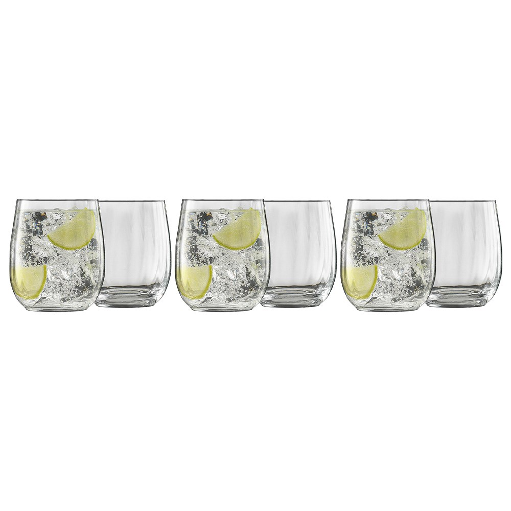 Ecology Twill Tumbler Glass Set of 6 460ml