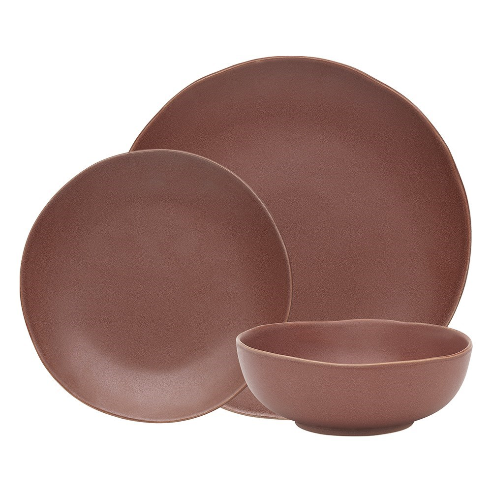 Ecology Sahara Earthly Pink 12 Piece Dinner Set