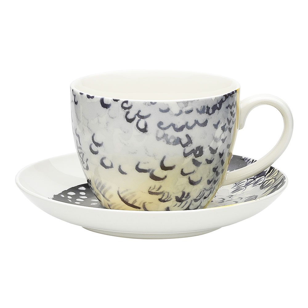 Ecology Paradiso Bone China Teacup & Saucer Set 430ml Spotted Pardalote