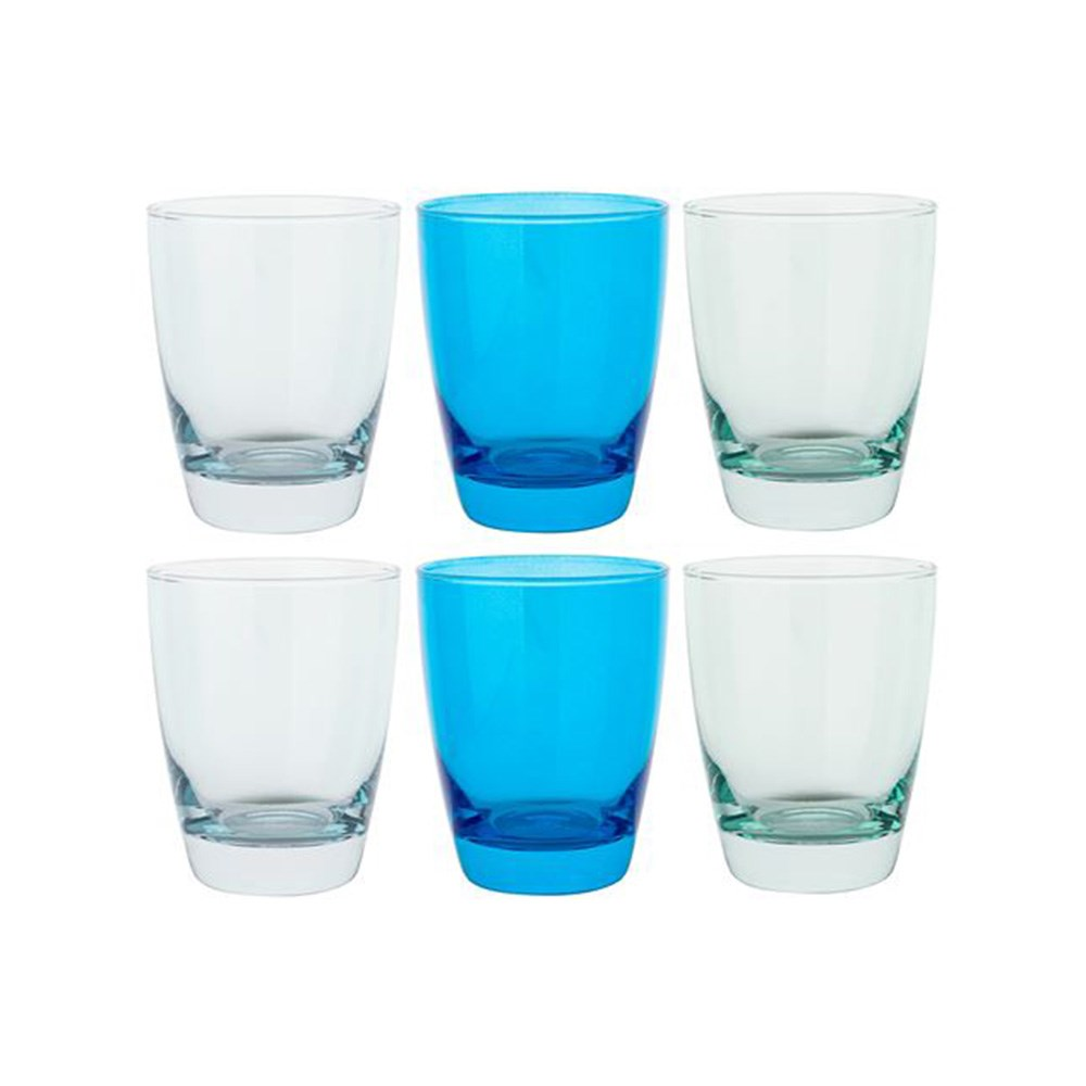 Ocean Tiara Blues Double Old Fashioned Glasses 365ml Set of 6