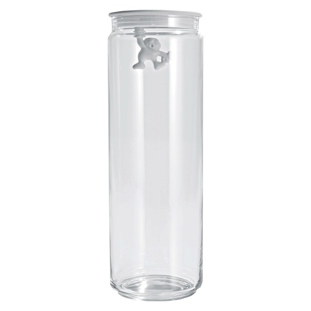 Alessi Gianni Glass Box Canister with Lid 2L White