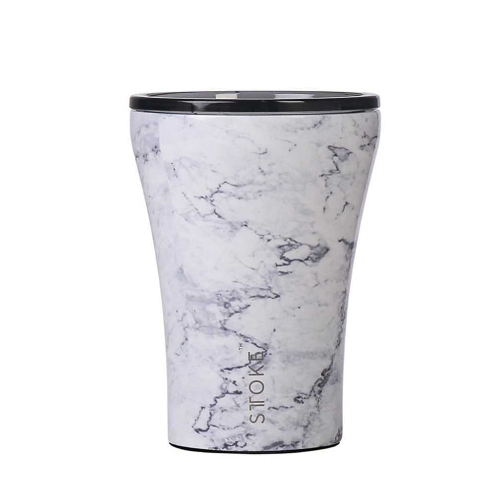 Sttoke Limited Edition Reusable Ceramic Coffee Cup 236ml (8oz) Luna Marble