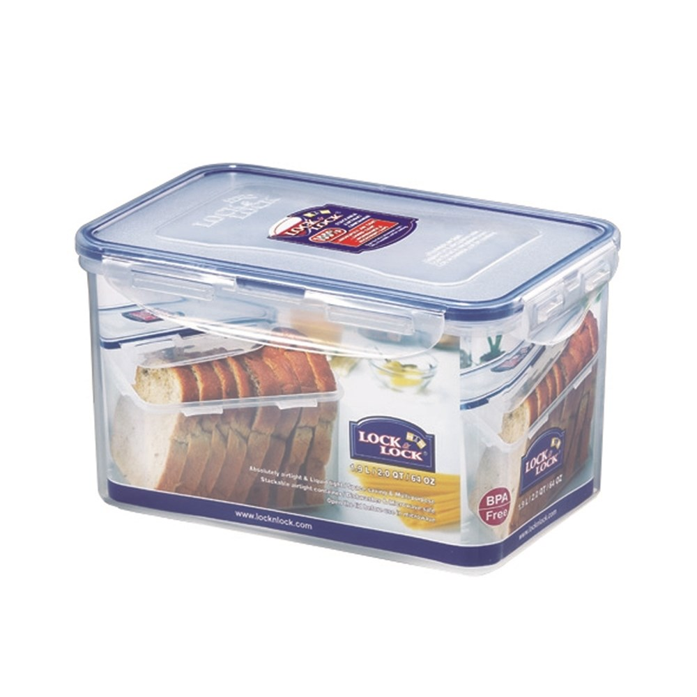 Lock & Lock Classic Tall Rectangle Food Container 1.9L