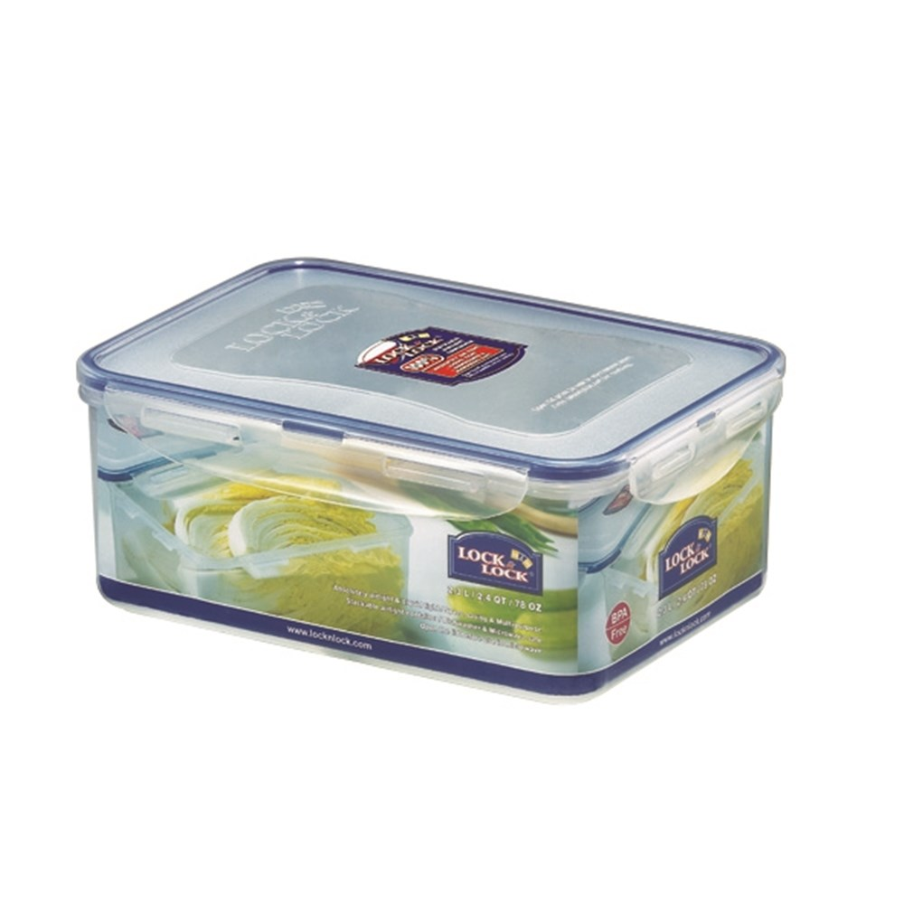 Lock & Lock Classic Tall Rectangle Food Container 2.3L