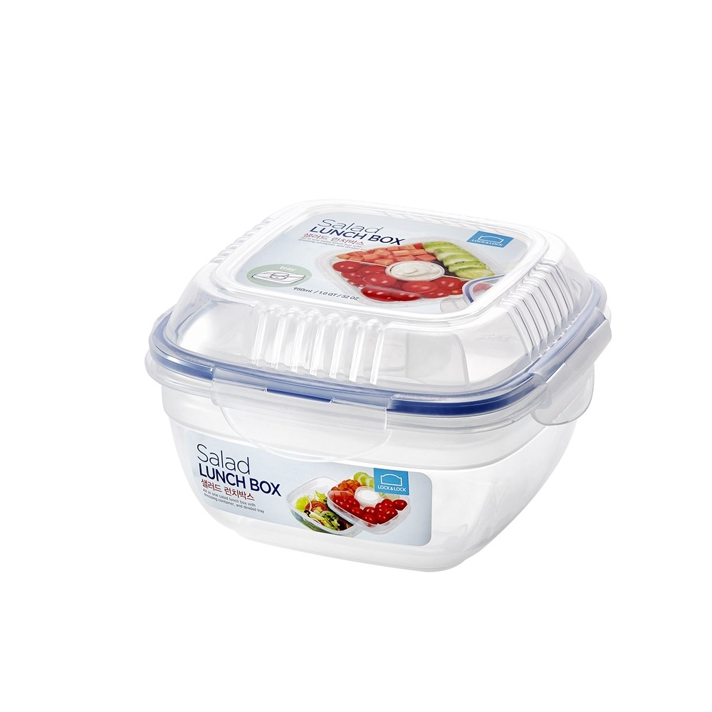 Lock & Lock Special Salad Lunch Box with Dividers - 950ml