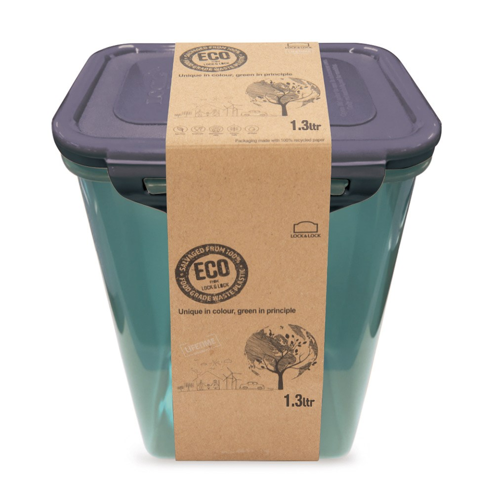 Lock & Lock Eco Tall Rectangular Food Container 1.3L