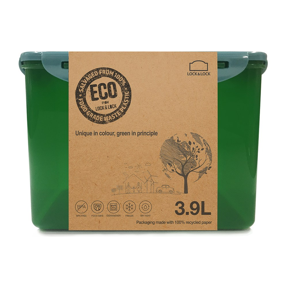 Lock & Lock Eco Short Rectangular Food Container 3.9L