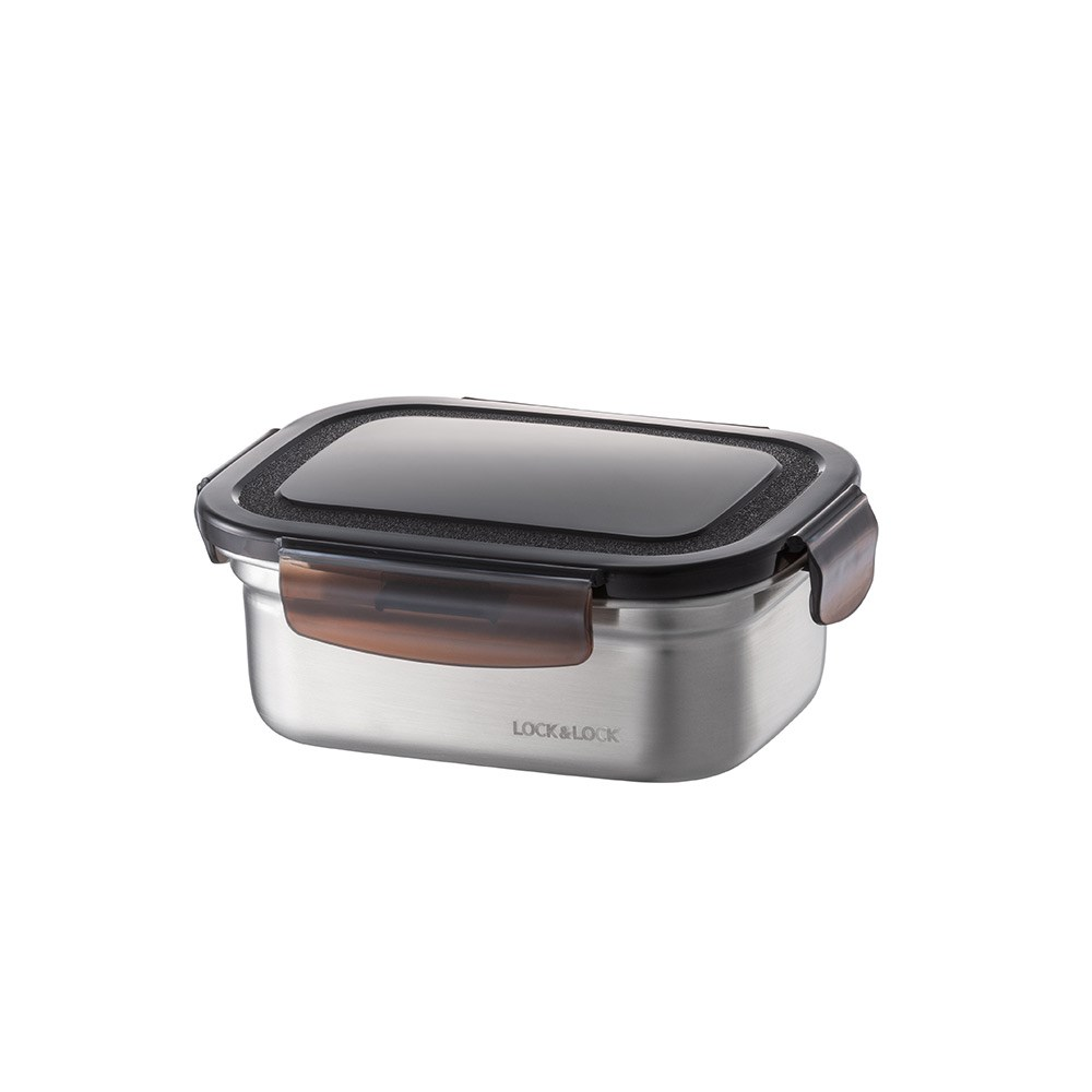 Lock & Lock Food-Safe Stainless Steel Rectangular Food Container 500ml
