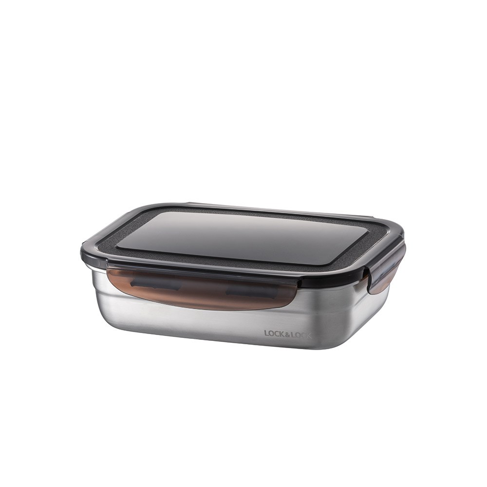 Lock & Lock Food-Safe Stainless Steel Rectangular Food Container 670ml