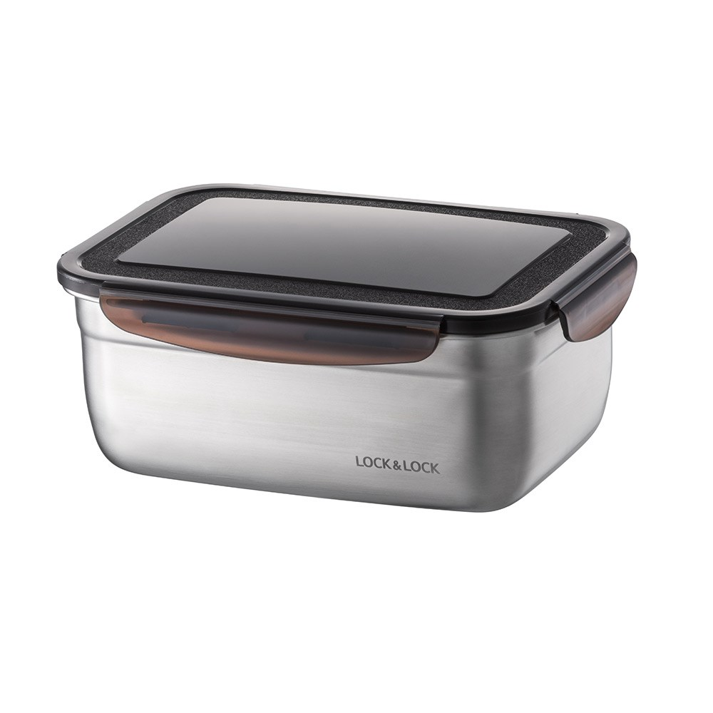 Lock & Lock Food-Safe Stainless Steel Rectangular Food Container 1.9L