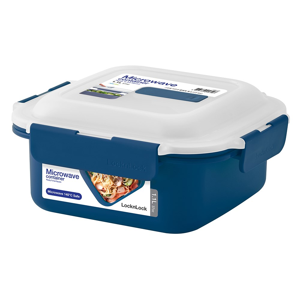 Lock & Lock 1.1L Microwave Square Container