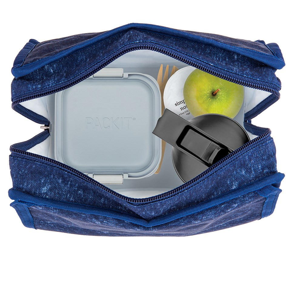 Packit Freezable Lunch Bag Navy Heather