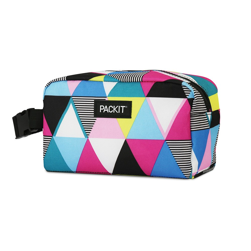 Packit Freezable Snack Box 23 x 10 x 12.7cm Triangle Stripes