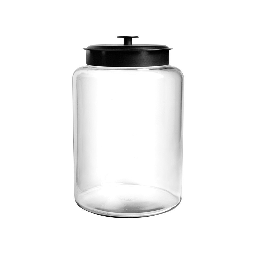 Anchor Hocking Montana 9.5L Storage Jar with Black Lid 34 x 21.5cm