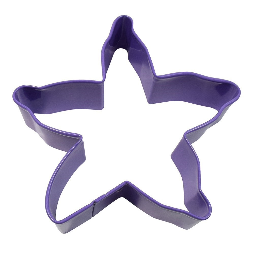D.Line Tinplate Starfish Cookie Cutter 10cm Purple