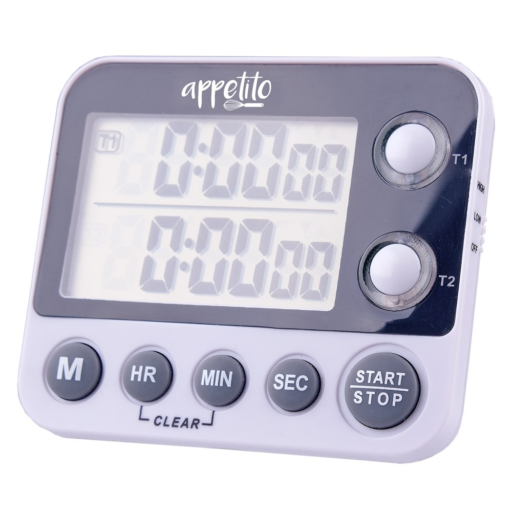 Appetito Dual Digital Timer 100 Hours