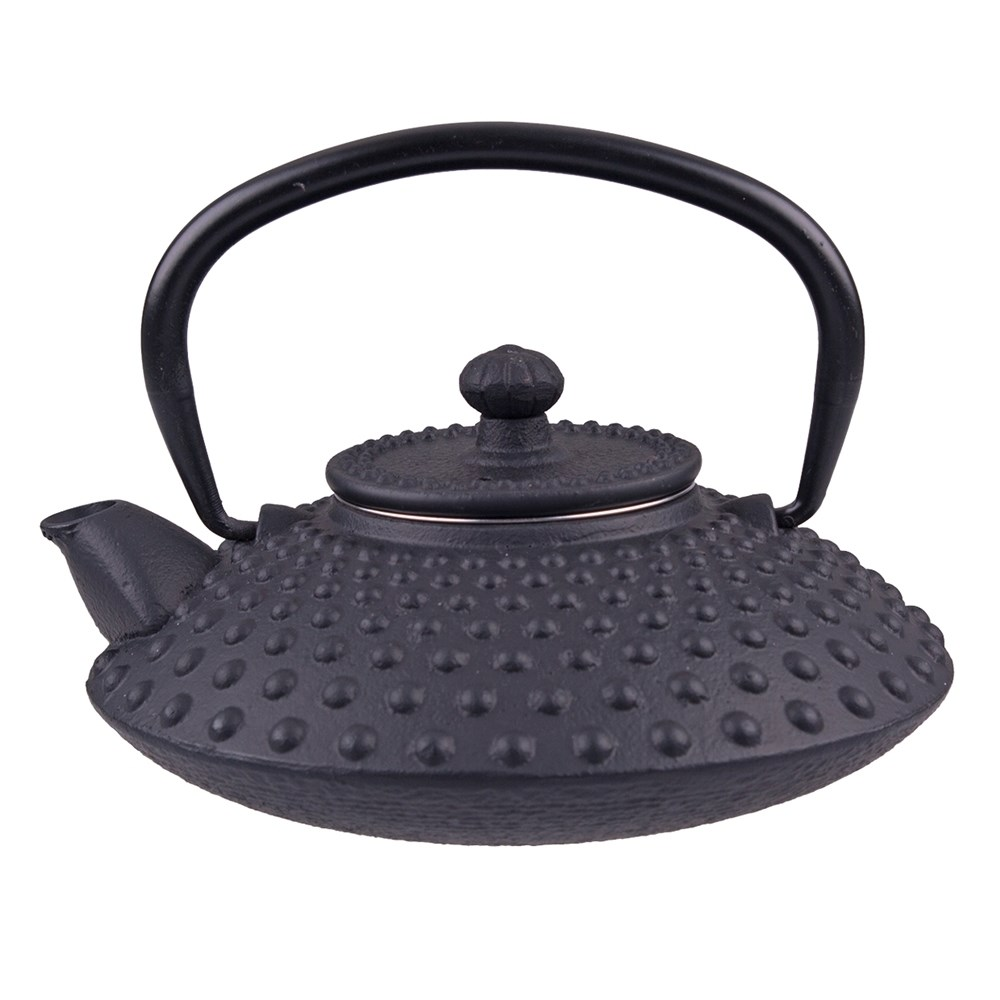 Teaology Cast Iron Tea Pot 500ml Hobnail Black