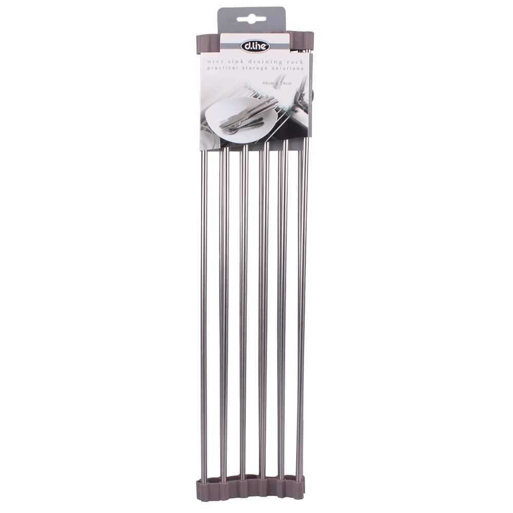 D.Line Over Sink Roll-Up Draining Rack 48 X 24cm
