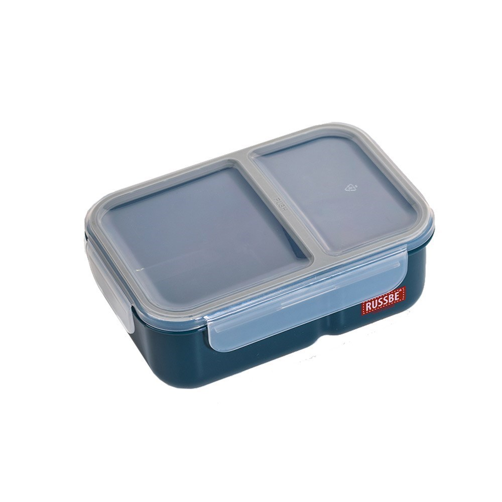 Russbe Plastic Lunch Bento 2-Compartment 1.1L Navy